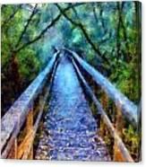 San Simeon Foot Bridge Canvas Print