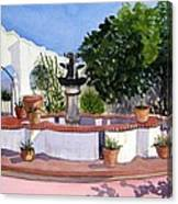 San Xavier Courtyard Canvas Print