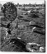San Xavier Del Bac Cemetery 1987 Canvas Print