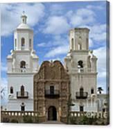 San Xavier Del Bac Mission Facade Canvas Print