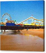 Sana Monica Pier Canvas Print