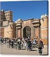 Sanaa City In Yemen  Canvas Print