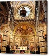 Sanctuary Duomo Siena Canvas Print