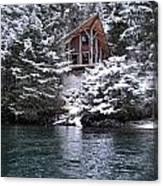 Sanctuary In Winter Canvas Print