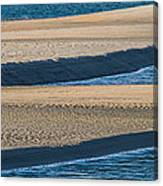 Sand And Water Textures Abstract Canvas Print