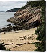 Sand Beach Acadia Park Canvas Print