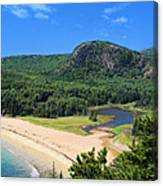 Sand Beach And The Beehive Canvas Print