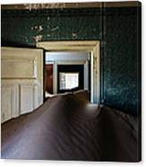 Sand Dune In Door Frame Of Abandoned Canvas Print