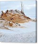 Sand Dune In Winter Canvas Print