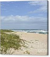 Sand Dunes And The Sea Canvas Print