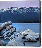 Sand Harbor Rocks Canvas Print