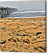 Sand On The Beach Canvas Print