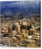 Sand Storm Approaching Phoenix Photo Art Canvas Print