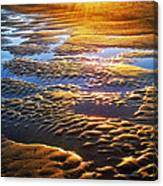 Sand Textures At Sunset Canvas Print
