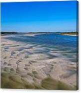 Sandbars On The Fort George River Canvas Print