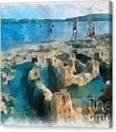 Sandcastle On The Beach Canvas Print