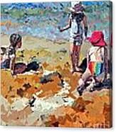 Sandcastles IIi Canvas Print