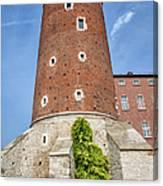 Sandomierska Tower Of Wawel Castle In Krakow Canvas Print