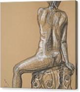Sandra  -back Nude Canvas Print