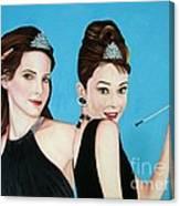 Sandra Bullock And Audrey Hepburn Canvas Print