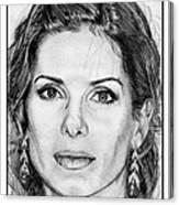 Sandra Bullock In 2005 Canvas Print