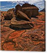 Sandstone And Sky Canvas Print