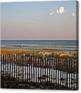 Sandy Beach And Three Tiny Clouds Canvas Print