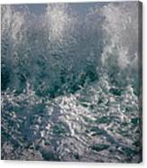 Sandy Beach Backwash Canvas Print