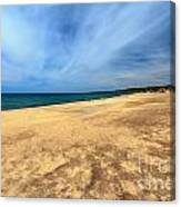 sandy beach in Piscinas Canvas Print