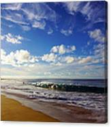 Sandy Beach Morning Rainbow Canvas Print