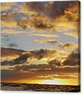 Sandy Beach Sunrise Canvas Print