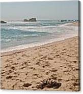 Sandy Beach With Glare  Canvas Print
