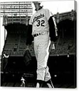 Sandy Koufax Vintage Baseball Poster Canvas Print