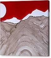 Sangre De Cristo Peaks Original Painting Canvas Print