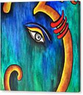 Sanskrit Om Ganesha Canvas Print