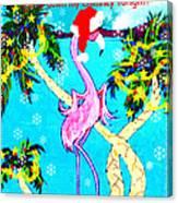 Santa Baby Flamingo Canvas Print