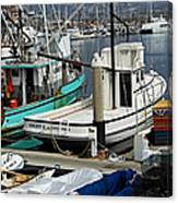 Santa Barbara Fishing Boats Canvas Print