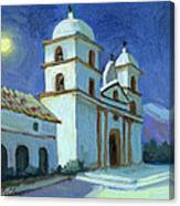Santa Barbara Mission Moonlight Canvas Print