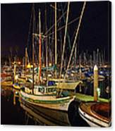 Santa Barbata Harbor Color Canvas Print