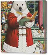 Santa Bear Canvas Print