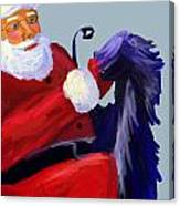 Santa Blue Canvas Print