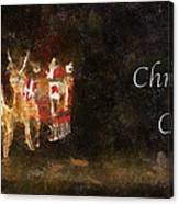 Santa Christmas Cheer Photo Art Canvas Print