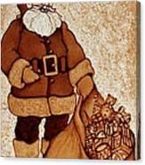 Santa Claus Bag Canvas Print