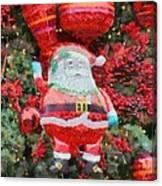 Santa Claus Balloon Canvas Print