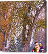 Santa Claus In The Snow Canvas Print