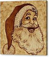 Santa Claus Joyful Face Canvas Print
