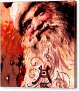 Santa Clause Vintage Poster A Joyful Christmas Canvas Print
