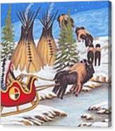 Santa For Indians Canvas Print