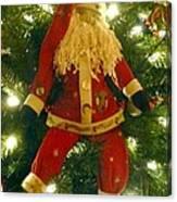Santa Got Hung Up Canvas Print