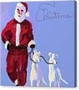 Santa Grey Canvas Print